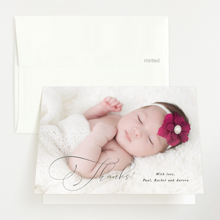 """""""Special love"""" - Birth Announcements Thank You Cards in Onyx by Kristel Torralba."""