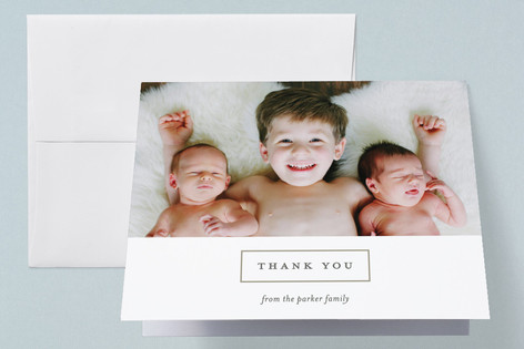 double delight Birth Announcements Thank You Cards