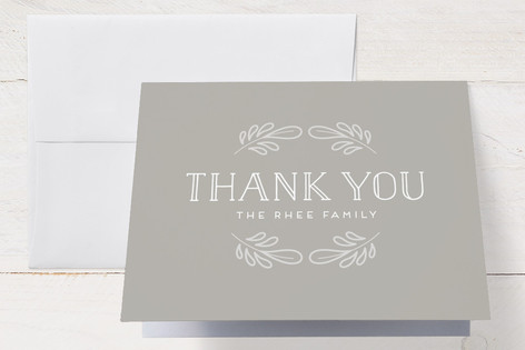 Flora and Fauna Birth Announcements Thank You Cards