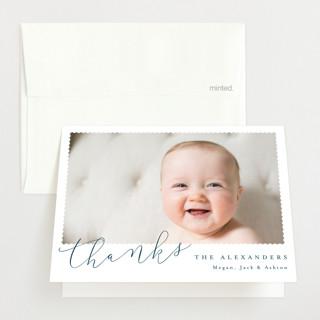 Minimal Modern Birth Announcements Thank You Cards