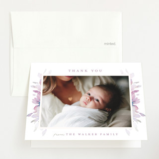Spring Blooms Birth Announcements Thank You Cards