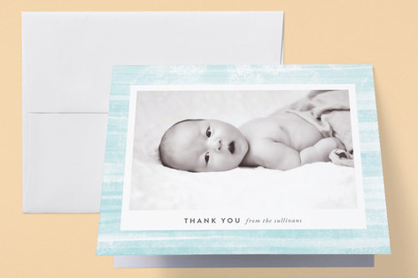 Painted Birth Announcements Thank You Cards