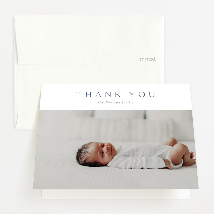 """""""love multiplied"""" - Birth Announcements Thank You Cards in Onyx by Kasia Labocki."""
