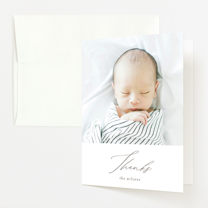 """""""Ollie"""" - Birth Announcements Thank You Cards in Hickory by Mansi Verma."""