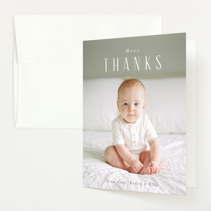 """""""in name only"""" - Birth Announcements Thank You Cards in Whipped Cream by Jennifer Wick."""