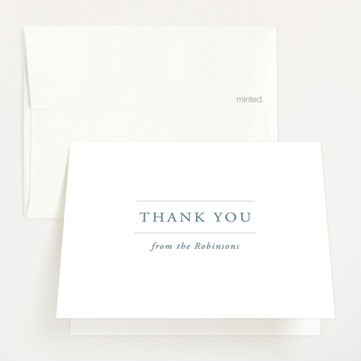 """""""With Love"""" - Birth Announcements Thank You Cards in Lake by Vanessa Doyle."""