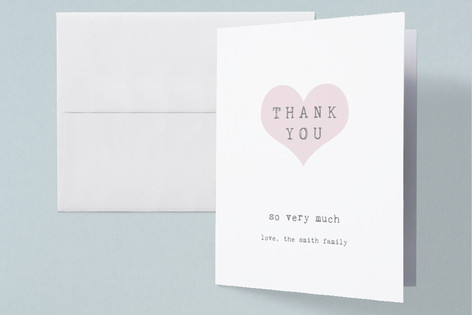Our Heart Birth Announcements Thank You Cards