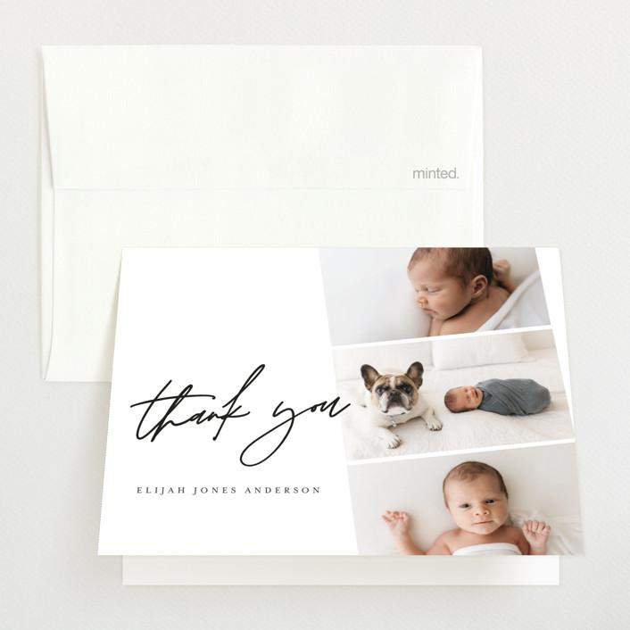 """Modern Photo Strip"" - Birth Announcements Thank You Cards in Ink by Anna Elder."