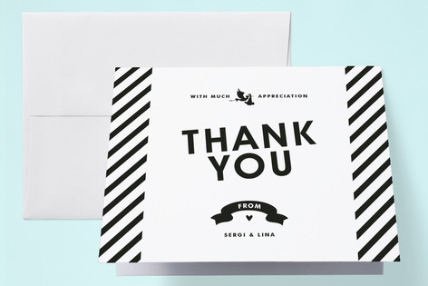 Vintage Label Birth Announcements Thank You Cards