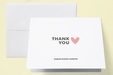 Simple Hearts Birth Announcements Thank You Cards