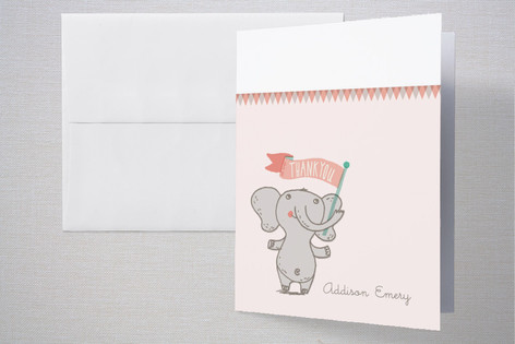 Welcome Elephant Birth Announcements Thank You Cards