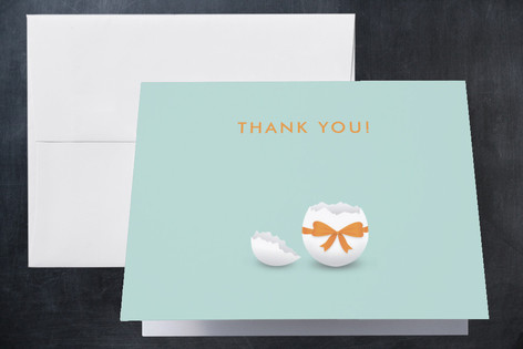 Hatched Egg Shell Baby Birth Announcements Thank You Cards