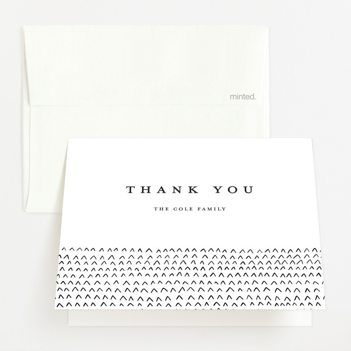 """Simple Birth Announcement"" - Birth Announcements Thank You Cards in Midnight by Kelly Stewart."