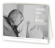 This is a grey baby thank you card by Up Up Creative called The Snuggle is Real with standard printing on strathmore in standard.