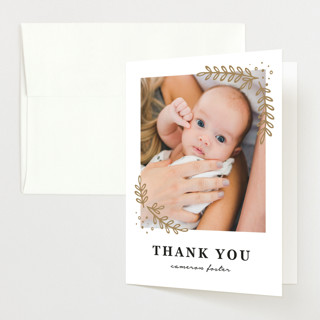 Sweet Trio Birth Announcements Thank You Cards