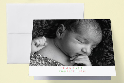 Three in a Row Birth Announcements Thank You Cards