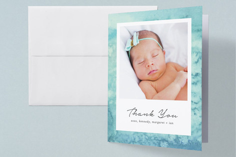 Ocean of Joy Birth Announcements Thank You Cards