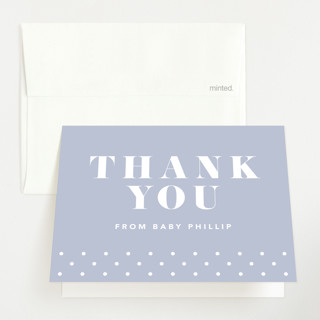 Bold Capital Birth Announcements Thank You Cards