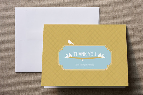 Woodland Baby Birth Announcements Thank You Cards