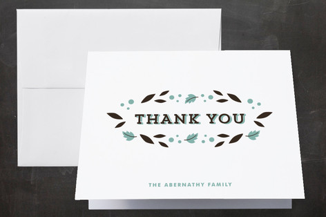 Autumn Baby Birth Announcements Thank You Cards