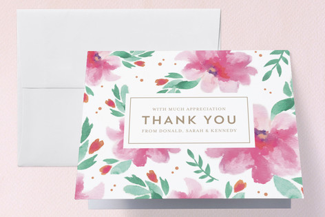 Spring Lilies Birth Announcements Thank You Cards