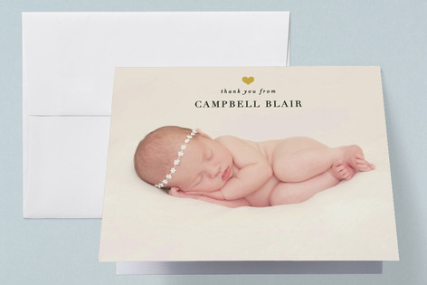 For Heart's Sake Birth Announcements Thank You Cards