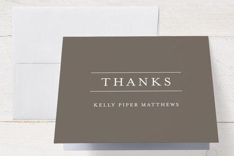 Linear Birth Announcements Thank You Cards