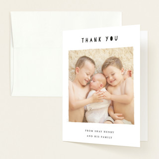 Another Brother Birth Announcements Thank You Cards