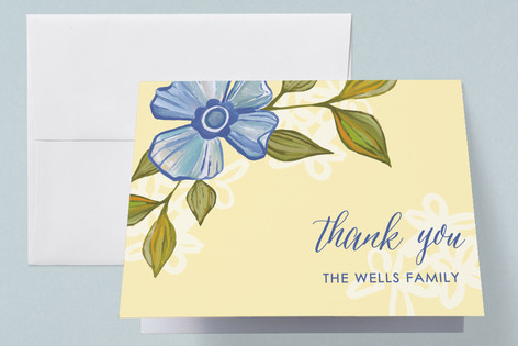 Blue Bonnet Birth Announcements Thank You Cards