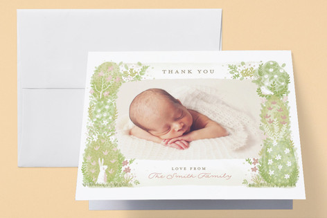 Secret Garden Birth Announcements Thank You Cards