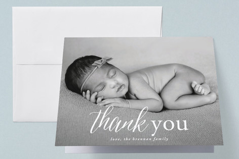 Simplicity Birth Announcements Thank You Cards