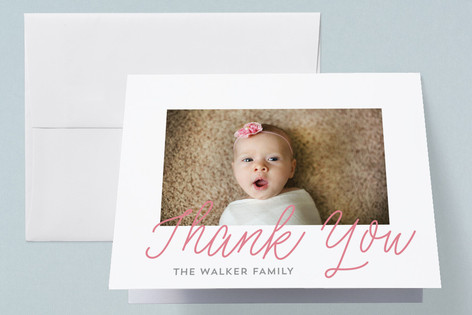 Simplistic Birth Announcements Thank You Cards
