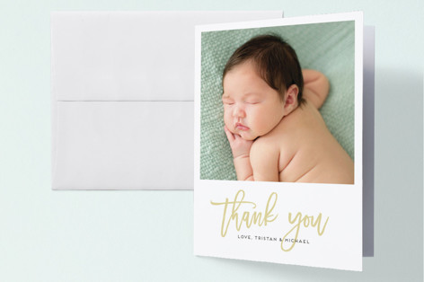 Split Frame Birth Announcements Thank You Cards