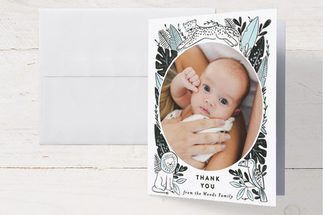 Jungle Pals Birth Announcements Thank You Cards