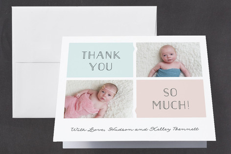 Twinning Birth Announcements Thank You Cards