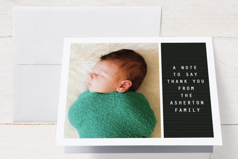 Letter board Birth Announcements Thank You Cards