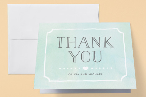 Ornate Frame Birth Announcements Thank You Cards