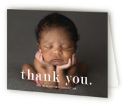 This is a pink baby thank you card by Up Up Creative called Meeting with standard printing on strathmore in standard.