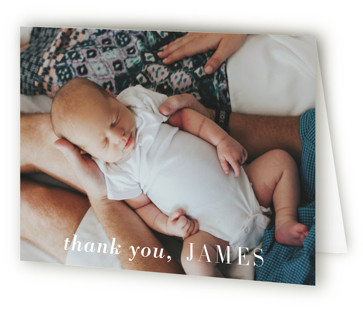 Editorial Keepsake Birth Announcements Thank You Cards