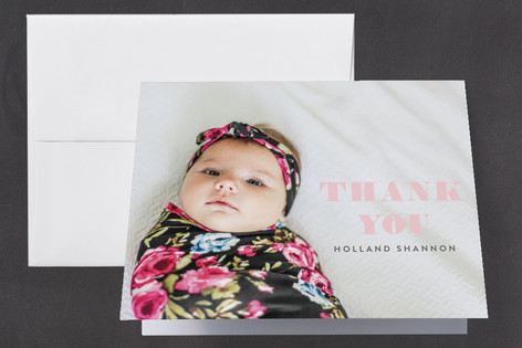 Numerals Birth Announcements Thank You Cards