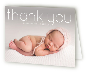 clean Birth Announcements Thank You Cards