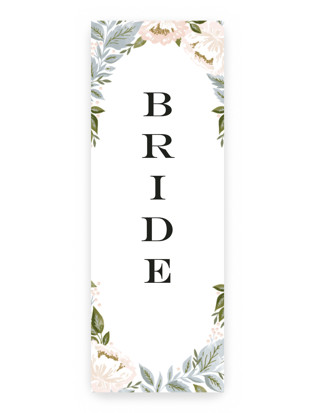 peony floral frame Long Signs