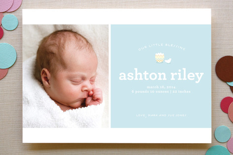 Hatched Birth Announcements