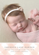 gingham baby Birth Announcements