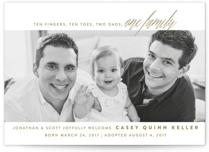 One Family Birth Announcements