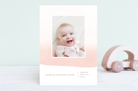 Delicate Ombre Birth Announcements