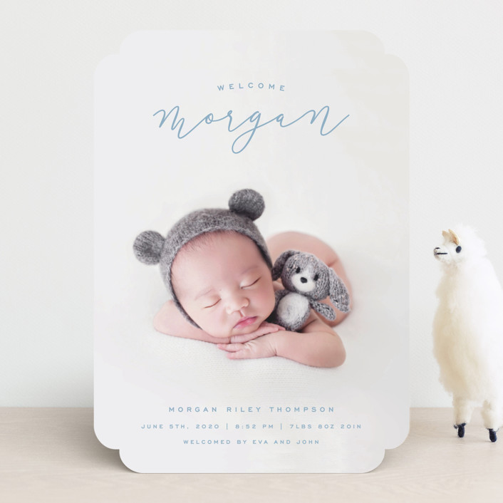 """""""Casual Script"""" - Birth Announcements in Rock by Hooray Creative."""