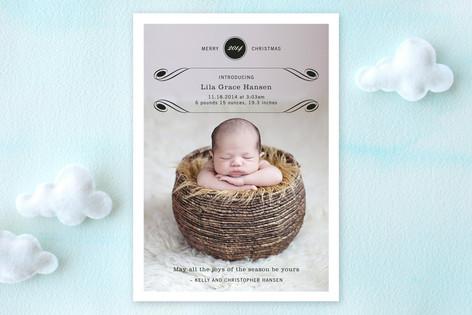 Luxe Flourish Birth Announcements