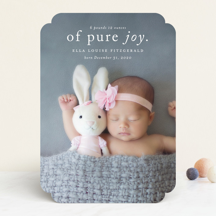 """""""Purest Joy"""" - Funny Birth Announcements in Pearl by Kimberly FitzSimons."""