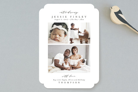 Elegant Collage Birth Announcements